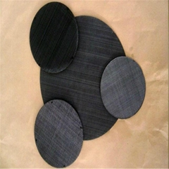 Black Wire Mesh Filter Mesh Disc