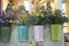 欧式田园花盆 陶瓷花盆 工艺品