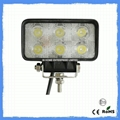 18 W 1650LM Flood Beam LED Work Lamps ,