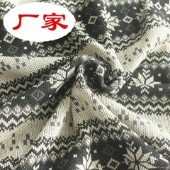 KNITTED DOUBLE JACQUARD FABRIC FASHION GARMENT FABRIC