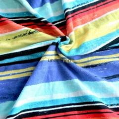 廠家供應 純棉 柔軟 定位活性水印花32支氨綸拉架汗布