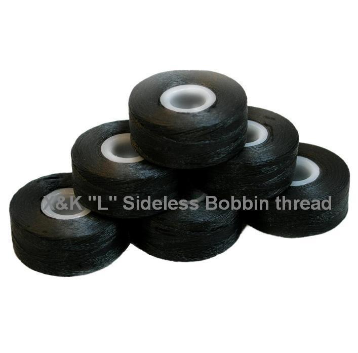 """L""  Sideless, Black, Bobbin thread 1"