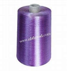 Dyed viscose rayon yarn
