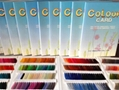 Polyester embroidery thread dyed on cone 6