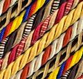 Dyed viscose rayon yarn