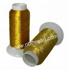 Metallic embroidery thre