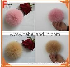 real fur pompoms