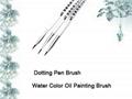 3pcs per set Dotting Brush Pen water color Oil Painting Brush  1