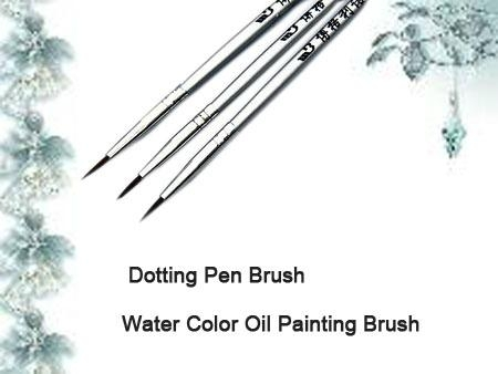 3pcs per set Dotting Brush Pen water color Oil Painting Brush  3