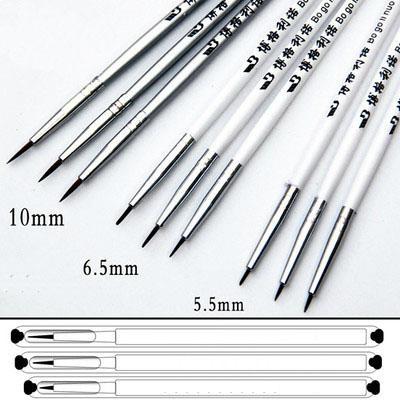 3pcs per set Dotting Brush Pen water color Oil Painting Brush  2