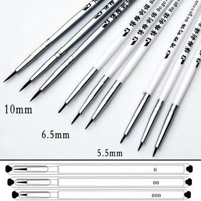 3pcs per set Dotting Brush Pen water color Oil Painting Brush  4