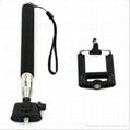 2015 hot sale monopod selfie stick Telescopic with bluetooth wireless remote mob 2