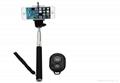 2015 hot sale monopod selfie stick Telescopic with bluetooth wireless remote mob 4