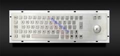 桌面使用型不鏽鋼金屬工業鍵盤帶軌跡球 KMY299