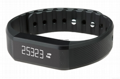 CE&ROHS approved bluetooth vibrating bracelet, OLED touch screen step counter, m