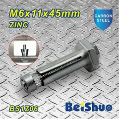 M6X11X45mm Zinc Plated Expansion Bolt Anchor with High Tensile