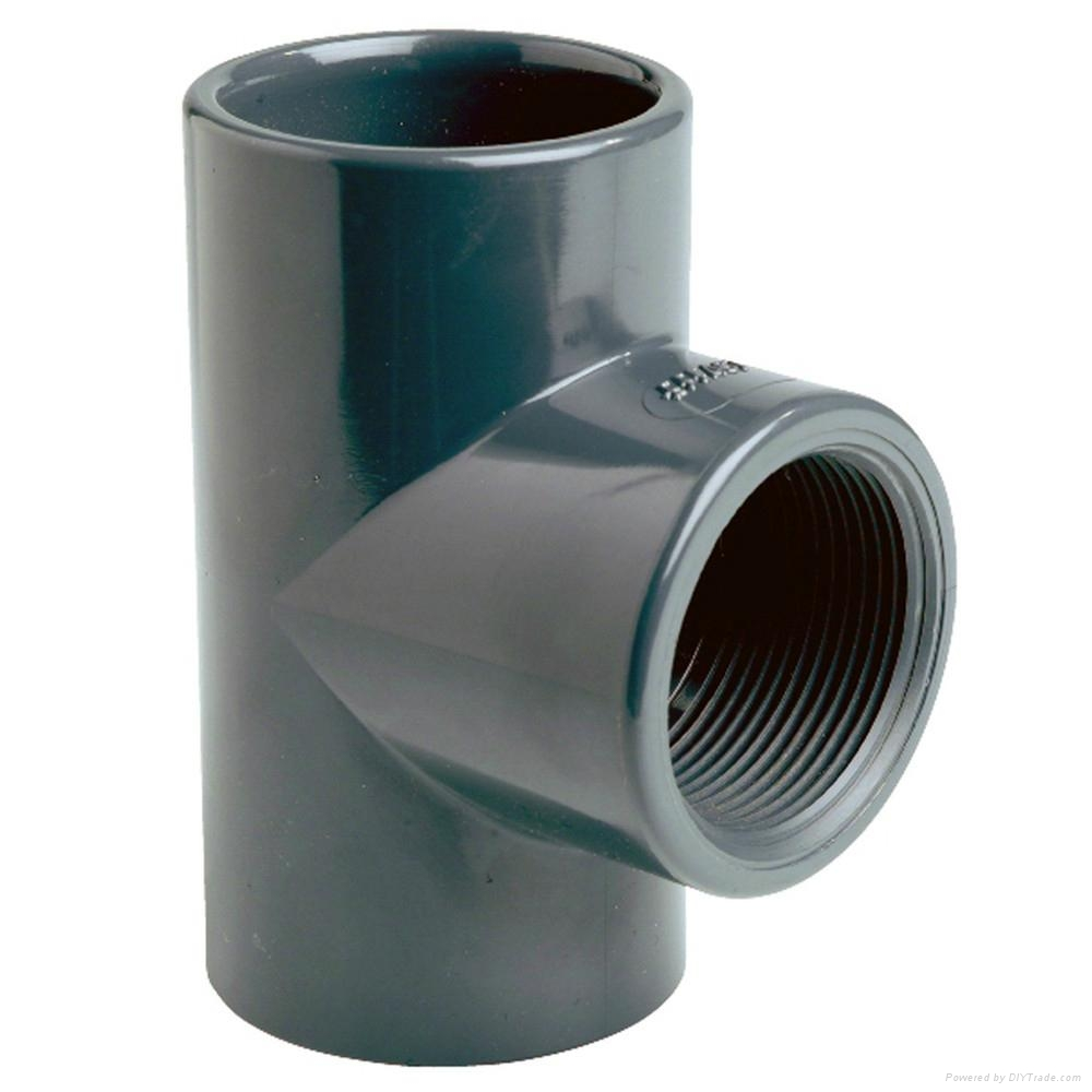 Pvc fittings cross tee qiyuan china
