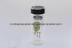 山東省定製廣告杯雙層玻璃杯禮品杯水杯子印字