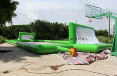 Inflatable soccer filed