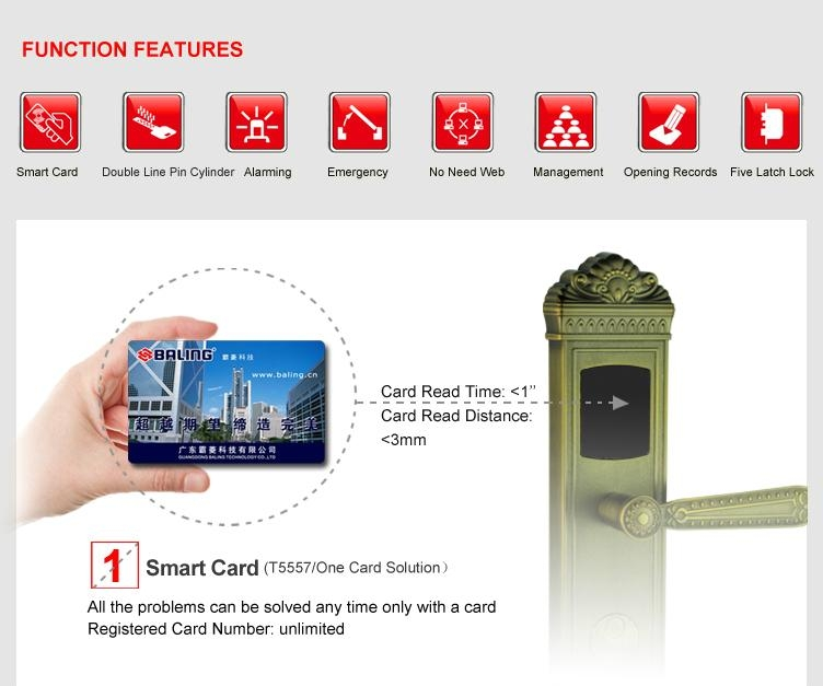 hotel card lock rf ID hotel room lock famous brand made in china 4