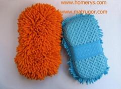 Microfiber Chenille Sponge For Car Care