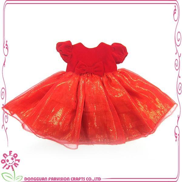 Princess doll dress red doll dress for 18 inch dolls 1