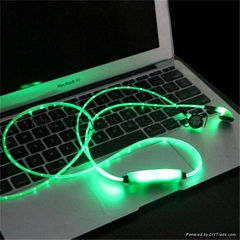 Popular Fashion hottes led light headphones light up headphones with  USB cable