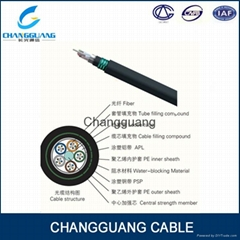 GYTA53 outdoor armored 48 core single mode fiber optic cable