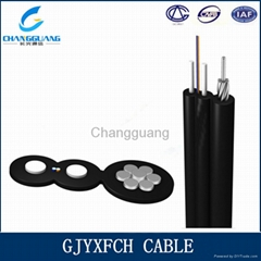FTTH Indoor GJYXFCH Self-supporting 8 core Drop Fiber Optic Cables