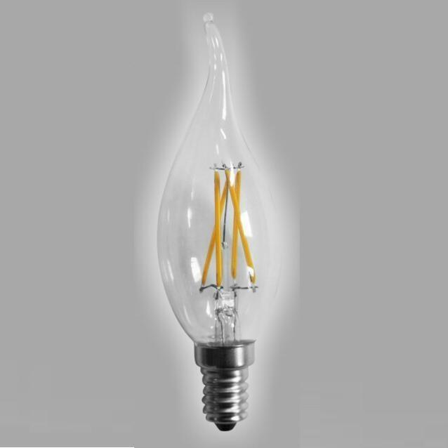 LED Filament Bulb Flame bulb CA35 2W 4W-dimmable 1