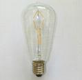 LED Filament Bulb ST64 ST58 2W 4W 6W 8W-dimmable 2