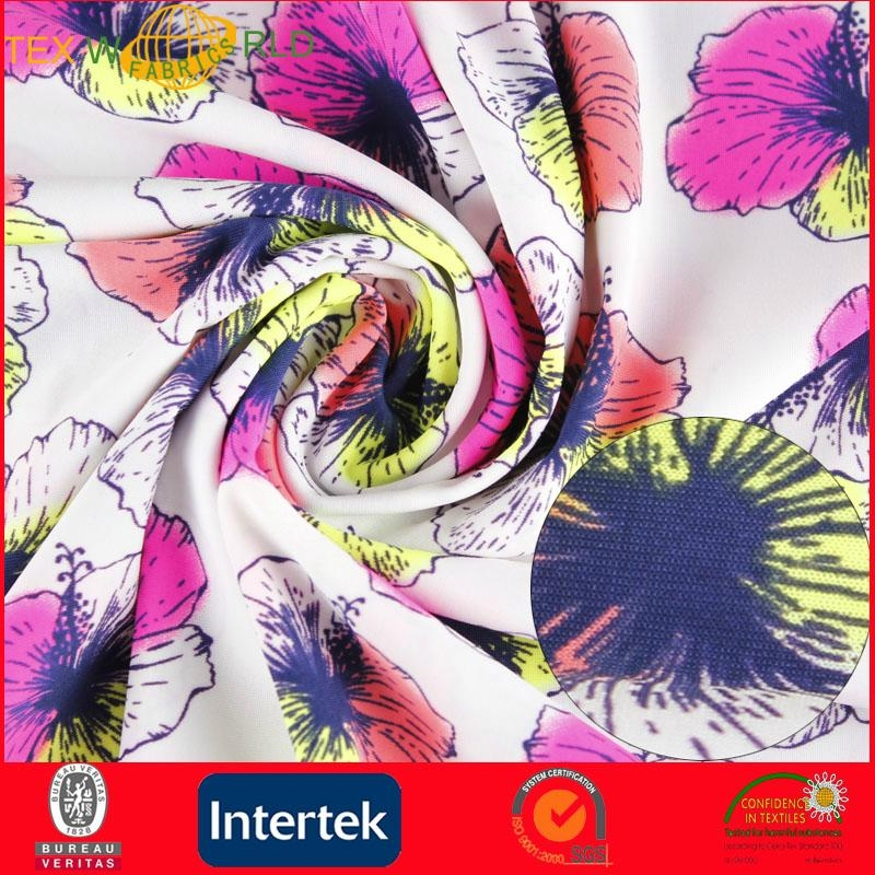 Elastic Knitted Printed Fabrc for Fashion Garment (WP1011) 2