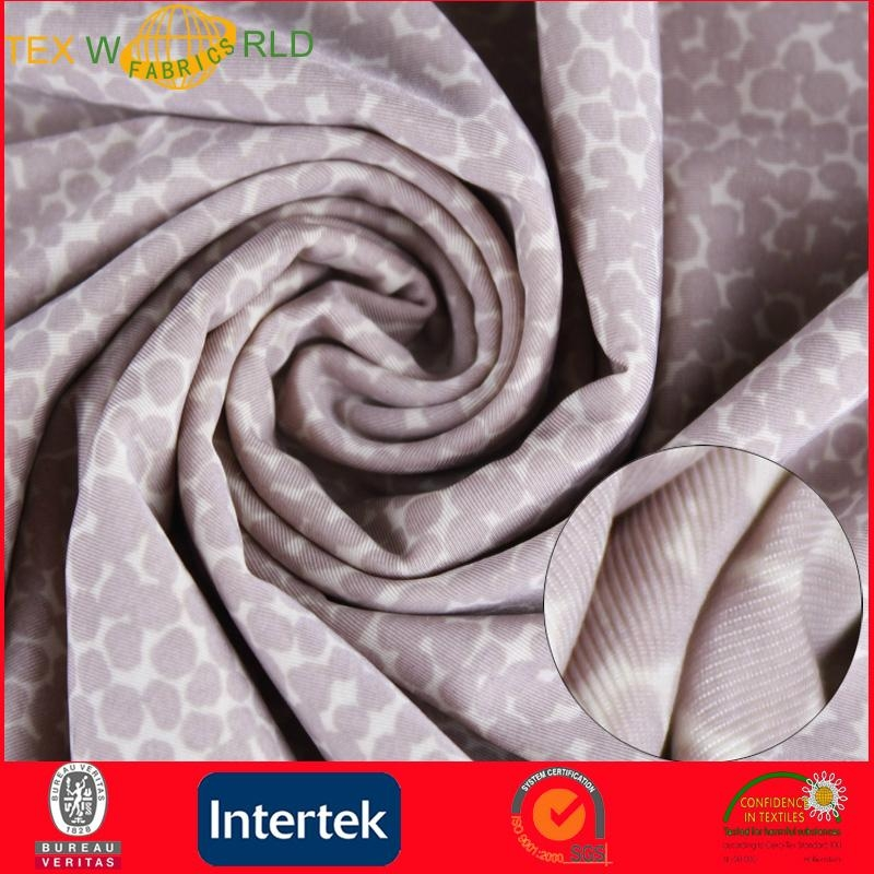 Elastic Knitted Printed Fabrc for Fashion Garment (WP1011) 3