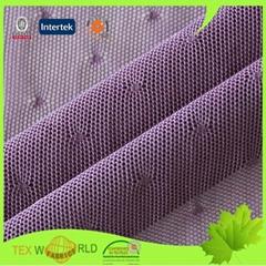 Purple Knitting Jacquard Tricot Lycra Mesh Underwear Fabric (JNE3105)