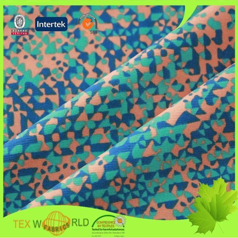 Knitting Printed Stretch Single Jersey Nylon Spandex Fabric (WNE1110) 4