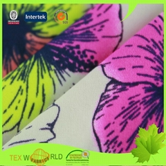 Knitting Printed Stretch Nylon Spandex Plain Swimwear Fabric (JNE1107)