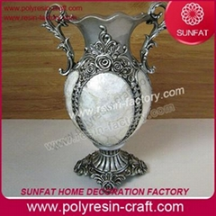 Glass vase/clear and coloured home decorative glass flower vase