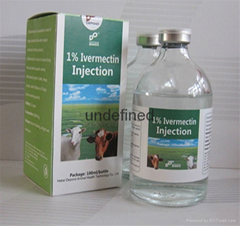 Ivermectin Injection 1% 100ml for animal care veterinary medicine