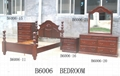 Solid wooden American bedroom furniture set