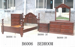 Solid wooden American bedroom furniture set