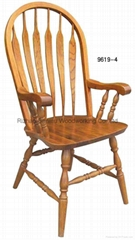 Wooden dining armchair