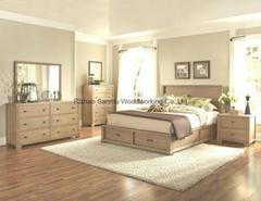 Solid wooden Modern bedr