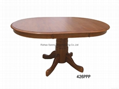 Adjusted wooden dining table