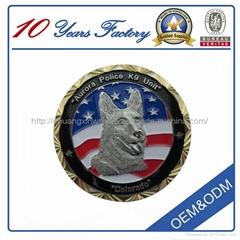Custom 3D  Embossed Sandblasting Coin