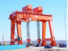 Marble slabs stone factory  semi-portal gantry crane calculation gantry crane