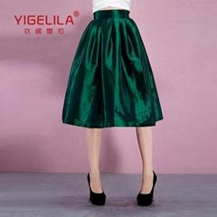 Summer New Women Ball Gown Skirt High Waist Solid Skirt Tutu Skirt YIGELILA 5241