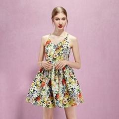 yigelila 61098 short backless dress spaghetti strap women floral summer dress
