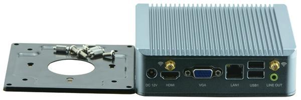 Intel Celeron J1900 Fanless Industrial Computer With Rich IO: Dual Lan SIM HDMI 4