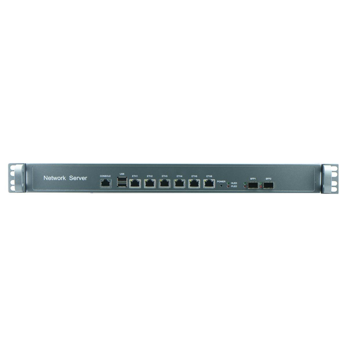 1U B75 Industrial Rackmount Barebone for Network Security 6 Nic SFP 1