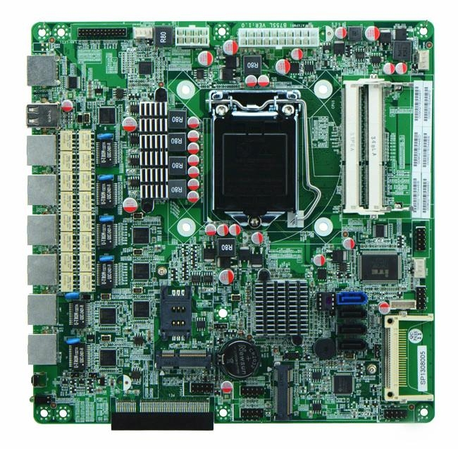 Intel C1037U Based Firewall Motherboard for Network Security Application, 4* Nic 1